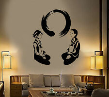 Vinyl Wall Decal Yoga Meditation Room Enso Circle Lotus Pose Zen Stickers 1458ig