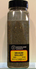Woodland Scenics B1382 Medium Ballast Gray 57.7 cu in Shaker 945 cu cm
