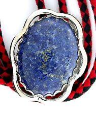 Natural Oval 40x30 Lapis Lazuli Cab Cabochon Gemstone Bolo Tie Cord Tips EPBT70N