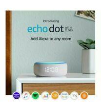 Amazon Echo Dot 3rd Generation Smart Speaker with Clock Sandstone