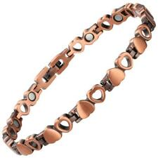 Dainty Love Heart Copper Ladies Magnetic Bracelet Arthritis Bracelets For Women