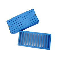 Dental File Bur Block/Holder/Station Sterilization Case Rack Box&Sponge FG/RA
