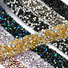 1 Yard Bling AB Rhinestone Stone Trim Ribbon Wedding Dress Craft Sewing Decor