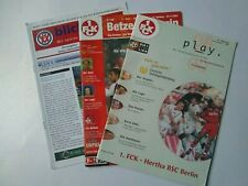 Lot of 3 German Football Programmes inc Kaiserslautern & Mannheim