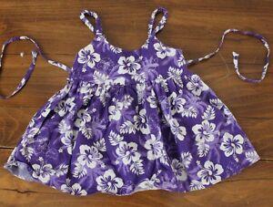 Girls   Purple Floral  ALI'I  Hawaiian   Dress     Girls  Size  2
