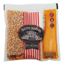 Superior Organic Movie Theater Popcorn 100% Coconut Oil Portion Pack Case of 24