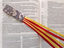 MILITARY SERIES 6 ribbon bookmark multi page US MARINE CORPS digital camo