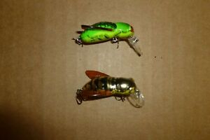 COUPLE OF REBEL F 74 BUMBLE BUG LURES IN NEW COLORS FIRE BUG HORNET TINY BAITS