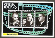 "2010 - Foglietto ""Cinema italiano"" Sassone 65 MNH**"
