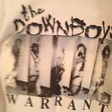 Warrant Downboys Rare 1989 Vintage Concert T Shirt Sz Large Worn 1x