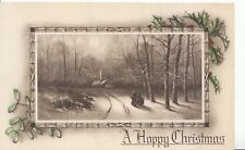 Greetings Postcard - A Happy Christmas - Winter Cottage Scene - Ref ZZ4015