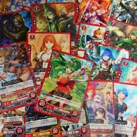 more than 50 Random Japanese Fire Emblem 0 Cipher Cards (red) with 1 holo