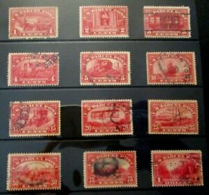 1912-13 US S# Q1-12, Parcel Post Complete Set of 12v, all in used Condition vg-f
