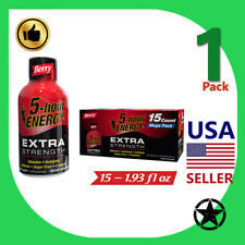 1 Pack 5-hour Energy Extra Strength Shots Berry 15 Count
