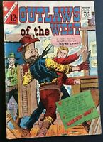 OUTLAWS OF THE WEST. NO. 56. SILVER AGE 1965. CHARLTON SCARCE.  VG  CONDITION.