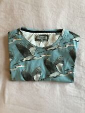 Men's Ted Baker T-Shirt In Blue With Bird Print Size 5