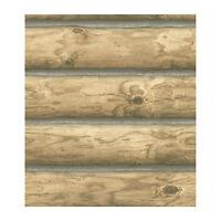 3-D Light Blonde Log Cabin Sure Strip Wallpaper CH7977