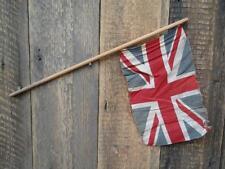 Antique Vintage Union Jack Flag Wooden Stick Village Fete Party British Made B