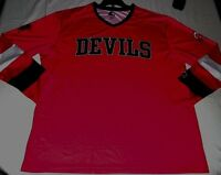 New Jersey Devils Starter Game Day Pullover Jersey Red Embroidered Logo NHL