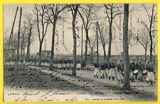 cpa 92 FORT de ROSNY SOUS BOIS Départ du 4e Régiment de ZOUAVES Armée d'Afrique
