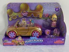 Shopkins Happy Places Royal Convertible Car w Exclusive Tiara Sparkles Doll NEW