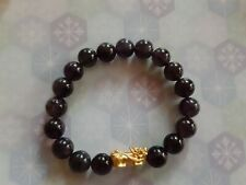 24K piyao chinese gold small with amethyst stone bracelet