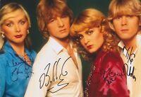 Bucks Fizz ALL Original Members HAND SIGNED 12x8 Photo Autograph Making Mind (B)