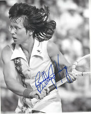 TENNIS LEGEND BILLIE JEAN KING SIGNED 8X10 PHOTO WIMBLEDON GRAND SLAM w/COA