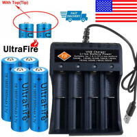 Lot 18650Battery Li-ion 3.7V Rechargeable Charger For LED Flashlight Torch USA!