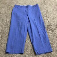 Kim Rogers Women's Size 14 Light Blue Capri Pants