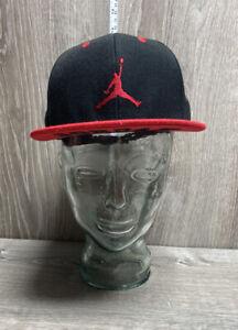 Jordan True Boys Snapback Baseball Cap Hat Jumpman Baskeball Red Black Stickers