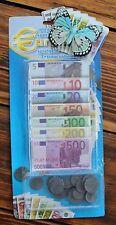 90tlg Euro Spielgeld Münzen Kaufmannsladen Scheine Kasse Geld Spielladen