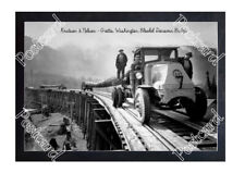 Historic Knutson & Nelson Logging Co- Grotto, Washington, Mack Truck Postcard 2