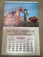 1960 Thos Murphy Calendar Red Oak Iowa Salesman Sample INV-AC05
