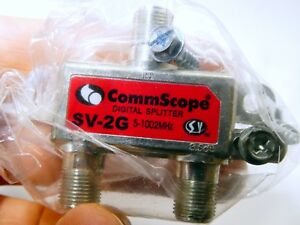 Comcast Two Way Cable Adapter Splitter ACC SV-2G Commscope