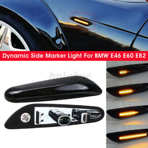 2x LED Ambre Clignotant Dynamique Repetiteur pour BMW E46 E60 E82 E88 E90 E92