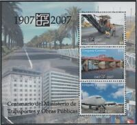 Uruguay Hb 82 2007 100º Of Ministry Of Works Public And Transport MNH