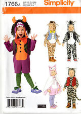 """Uncut 2012 Simplicity Sewing Pattern 1766 """"Toddlers' Costumes & Hat"""" 1/2-1-2-3-4"""