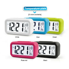 Digital Electronic Smart Alarm Clock With LCD Temperature Date Nightlights Gifts