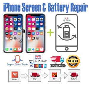 iPhone X Full Screen and Battery Replacement Service - Same Day Repair ✅