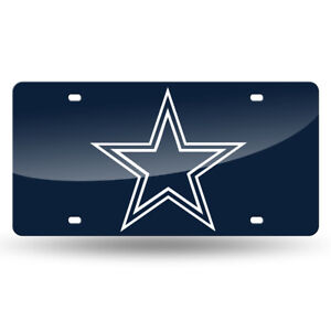 Dallas Cowboys NFL Navy Laser Tag License Plate