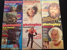 PHOTOPLAY MAGAZINES X 6 1975 -76-77