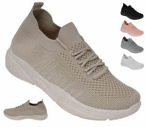 Damen Sneaker orthopädische Sportschuhe Slipper Fitness Leichte Turnschuhe Neu !
