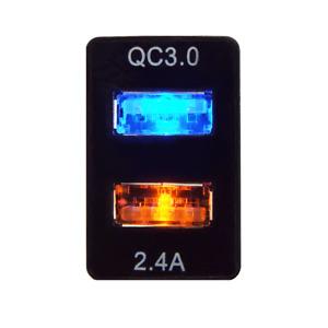 Prado 150, MY16 Hilux, Landcruiser 200, Fortuner, 4.8 AMP QUICK CHARGE Dual USB