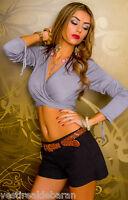 Bolero Coprispalle Giacca Sciallata Donna MISSY C061 Scialle Grigio Tg S/M M/L