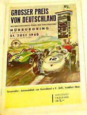 31. JULI 1960 Grosser Preis von Deutschland Nürburgring PROGRAMMHEFT VII11 å *