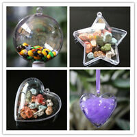 5Pcs Clear Candy Sweet  Boxes Ball Christmas Tree Decoration Wedding Party Gifts