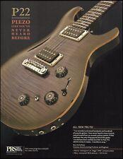 The 2012 PRS P22 Piezo electric guitar ad 8 x 11 advertisement print