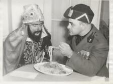 MUSSOLINI FEEDS SELASSIE SPAGHETTI-ORIGINAL PHOTO-GAG-AS PORTRAYED BY ACTORS