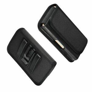 for ZTE Z999 Axon M (2018) Metal Belt Clip Holster with Card Holder in Textil...